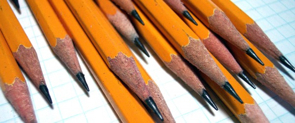 a stash of pencils