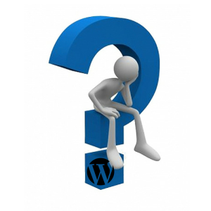 wordpress question mark