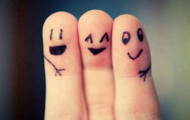 That's me in the middle, perfectly happy in the arms of supporting friends.