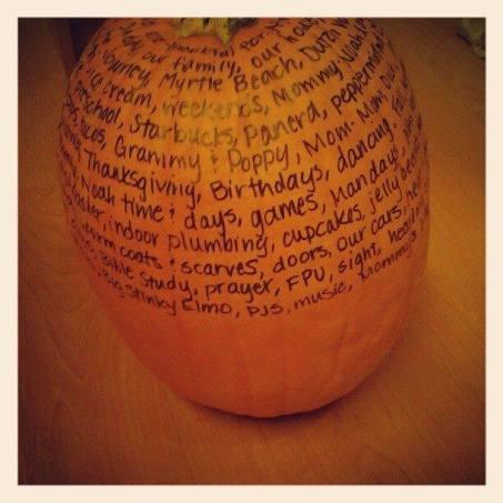 Thanksgiving Pumpkin | Memee's Musings